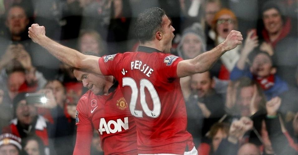 Van Persie marcou o gol do United contra o seu ex-clube, o Arsenal. Jogo terminou com placar de 1 a 0