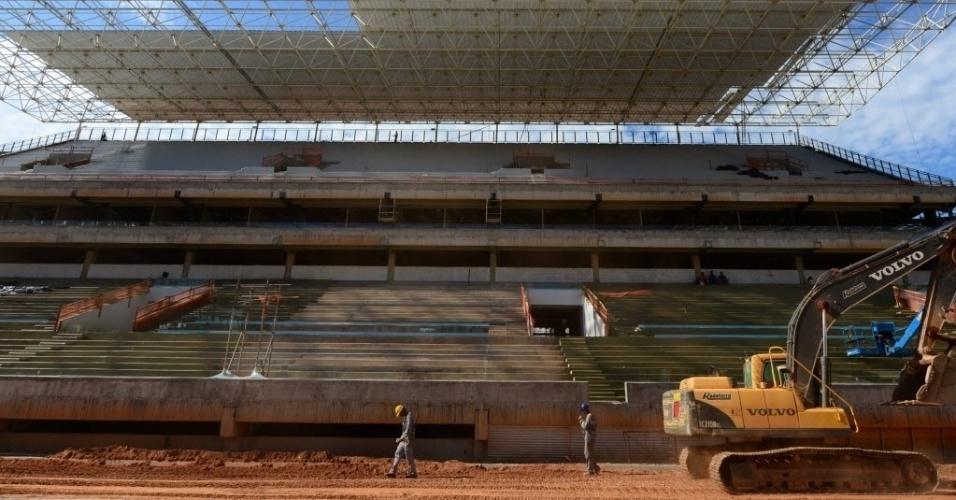11.nov.2013 - Arena Pantanal em Cuiabá tem projeto arquitetônico que prioriza ventilação do estádio