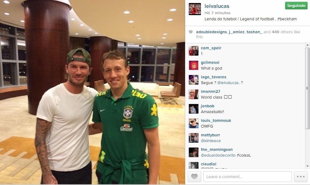 David Beckham e Lucas Leiva
