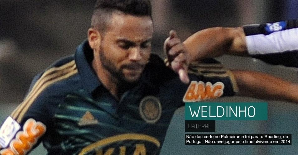 Não deu certo no Palmeiras e foi para o Sporting, de Portugal. Não deve jogar pelo time alviverde em 2014