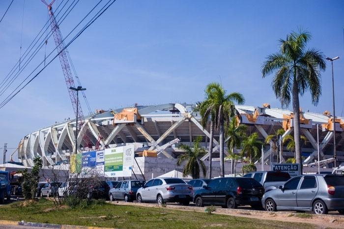 No fim de outubro, 88% das obras da Arena Amazônia estavam prontas