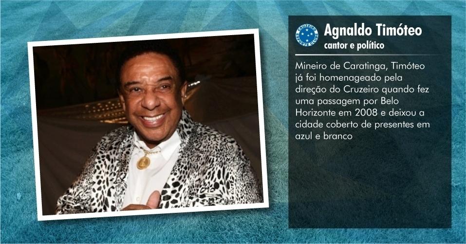 Torcedores ilustres do Cruzeiro: Agnaldo Timóteo, cantor e político