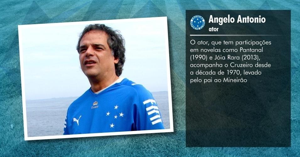 Torcedores ilustres do Cruzeiro: Angelo Antonio, ator