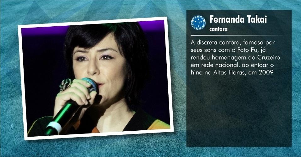 Torcedores ilustres do Cruzeiro: Fernanda Takai, cantora