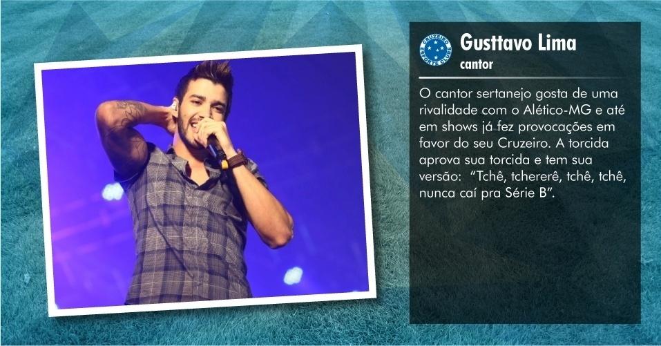 Torcedores ilustres do Cruzeiro: Gusttavo Lima, cantor