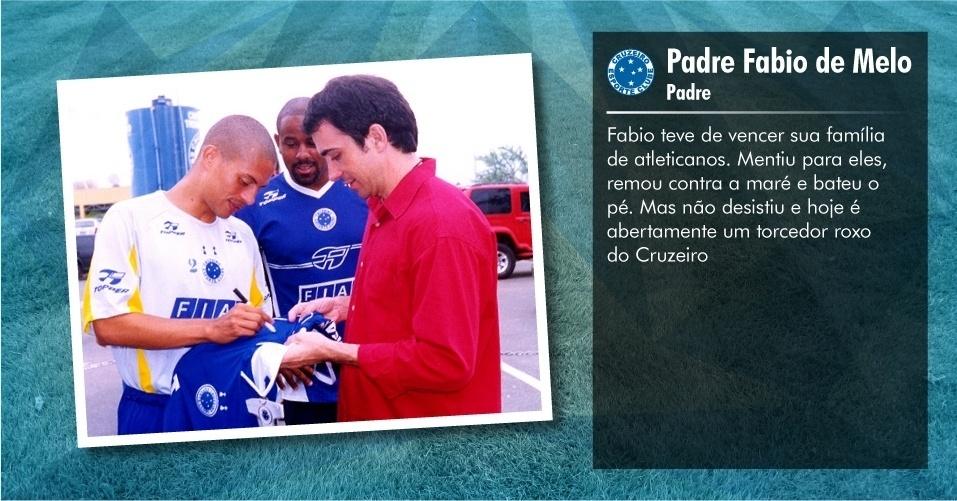 Torcedores ilustres do Cruzeiro: Padre Fabio de Melo