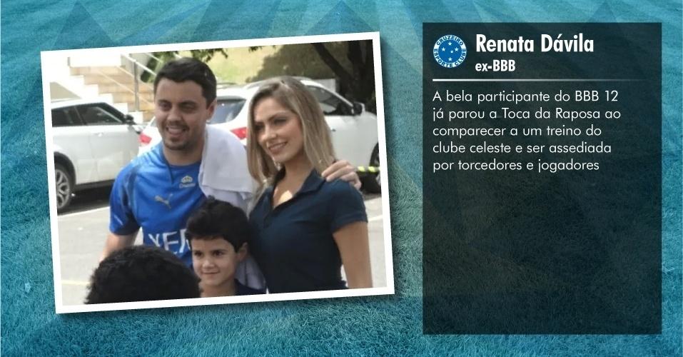 Torcedores ilustres do Cruzeiro: Renata Dávila, ex-BBB