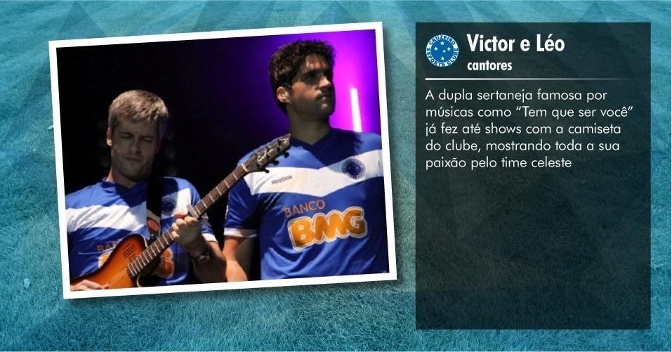 Torcedores ilustres do Cruzeiro: Victor e Léo, cantores