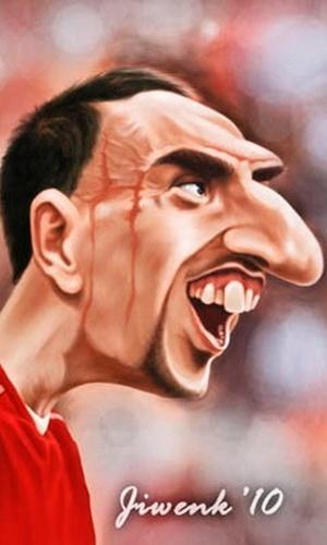 """14.nov.2013 - Destaque da França, Ribéry também chama atenção pelo visual """"pitoresco"""""""