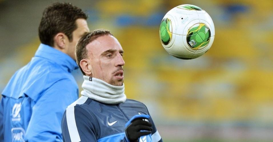 14.nov.2013 - Ribéry é a esperança dos franceses no duelo contra a Ucrânia