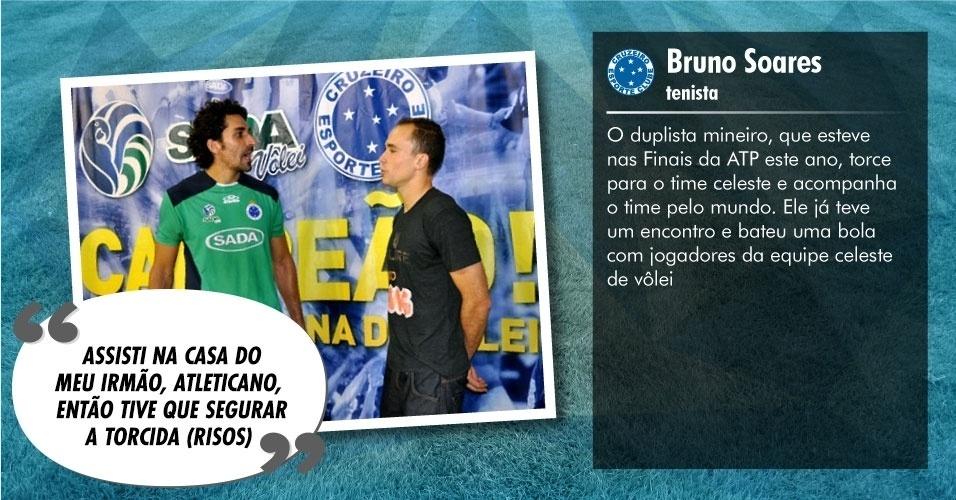 Torcedores ilustres do Cruzeiro: Bruno Soares, tenista