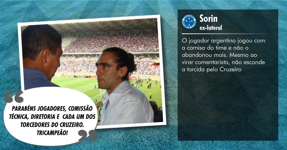 Torcedores ilustres do Cruzeiro: Sorin, ex-lateral e comentarista