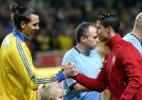 """Ibrahimovic ataca Cristiano Ronaldo: """"Ir para a Juventus não é um desafio"""" - AFP PHOTO/ JONATHAN NACKSTRAND"""