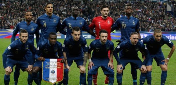 A França terá pela frentes as seleções de Suíça, Equador e Honduras na primeira fase da Copa