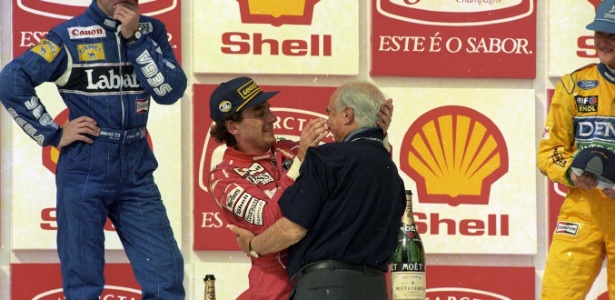 Senna e Fangio - Jorge Araújo/Folhapress