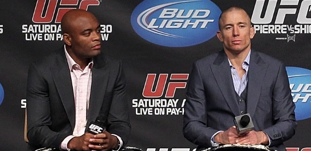 Anderson Silva e St-Pierre são duas das maiores estrelas da história do MMA - Al Bello/Zuffa LLC/Zuffa LLC via Getty Images