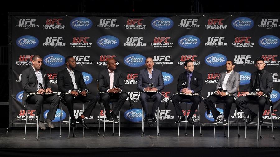 Em 2011, evento reuniu campeões do UFC - entre eles, Anderson Silva e GSP - Al Bello/Zuffa LLC/Zuffa LLC via Getty Images
