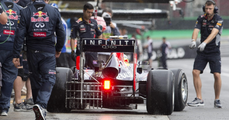 22.11.2013 - Sebastian Vettel durante os treinos livres para o GP Brasil