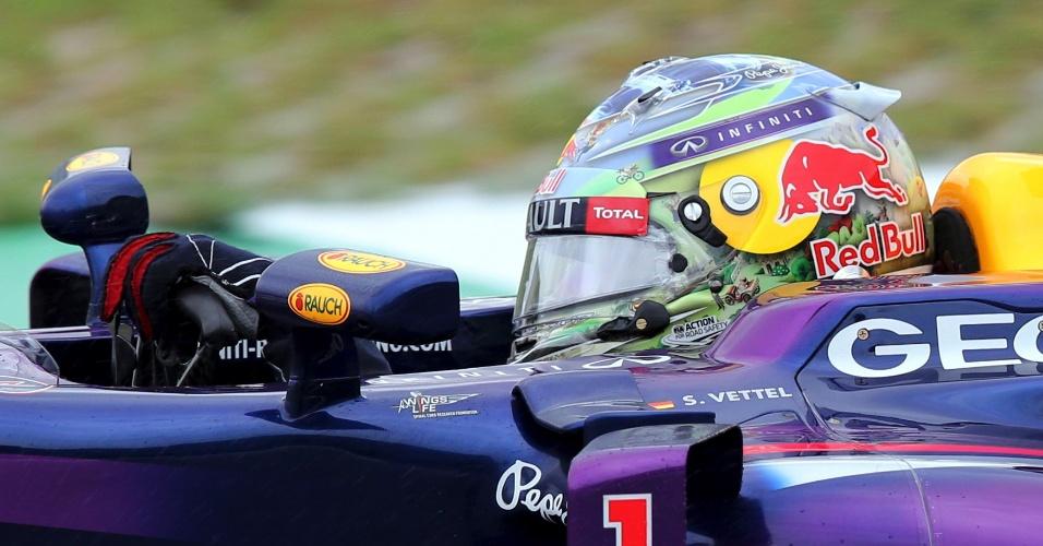 22.11.2013 - Sebastian Vettel no primeiro treino livre do GP Brasil