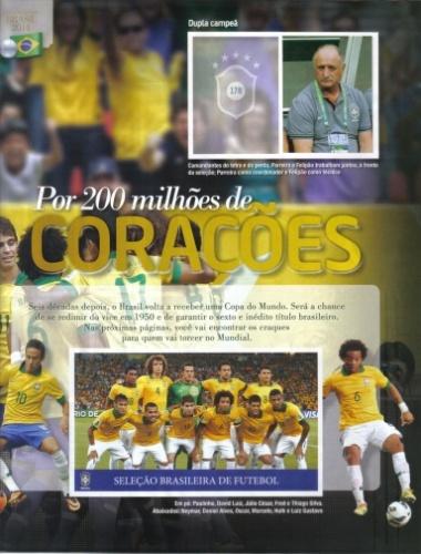 Álbum de figurinhas da seleção brasileira chega às bancas