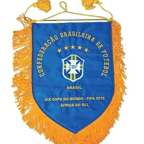 Flâmula utilizada pela seleção brasileira na Copa do Mundo de 2010