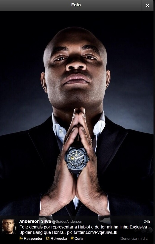 22.11.2013 - Anderson Silva apresenta relógio Hublot com sua marca