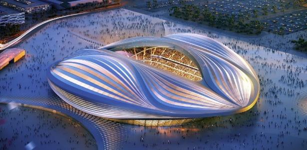 O projeto do estádio Al Wakrah, que será construído para a Copa do 2022, é um dos destaques do Qatar