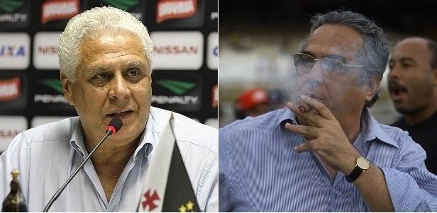 Desafetos, Roberto Dinamite e Eurico Miranda estão