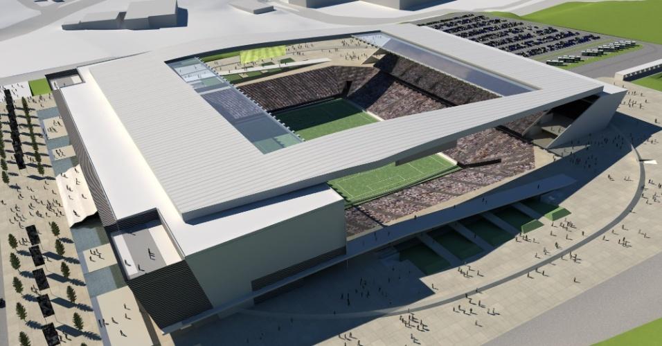 Veja como vai ficar o estádio do Corinthians com as obras terminadas