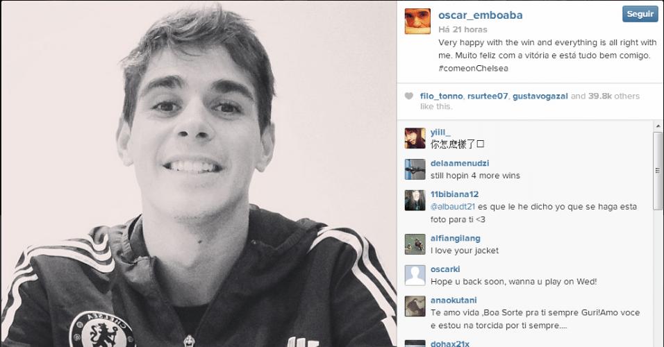 Oscar sofre lesão no tornozelo em jogo do Chelsea, mas vai ao Instagram e diz que