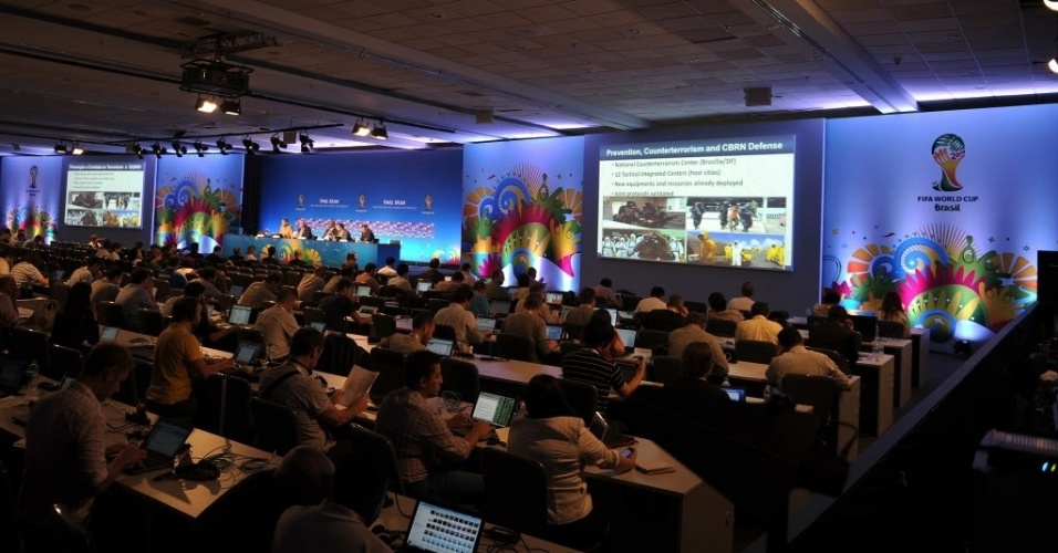 04.dez.2013 - Entrevista coletiva na Costa do Sauipe sobre eventos realizados com a Copa do Mundo de 2014