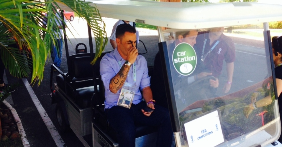 04.dez.2013 - Ex-zagueiro Paolo Cannavaro chega a Costa do Sauipe para o sorteio do Mundial