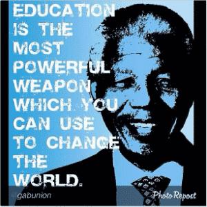 """Dwyane Wade - astro da NBA - """"Educação é a arma mais poderosa que você pode usar para mudar o mundo"""" - Reprodução/Instagram"""