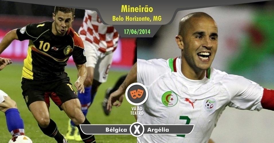 A geração belga merece todo respeito, mas em um jogo contra a Argélia não atrai maiores atenções. Cinemas, teatros, restaurantes e uma volta da Lagoa da Pampulha são mais interessantes