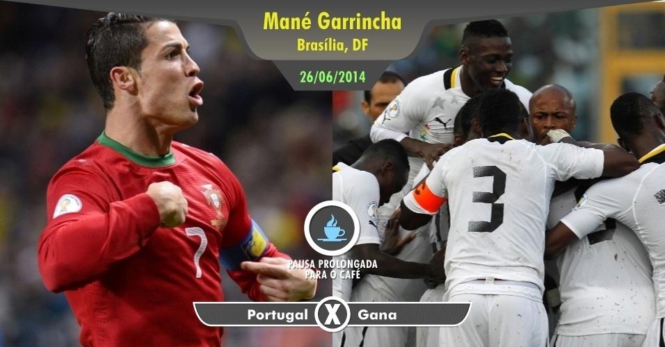 Cristiano Ronaldo estará em campo mais uma vez. E por mais que você não goste muito de Gana ou não considere um grande jogo, não dá para faltar