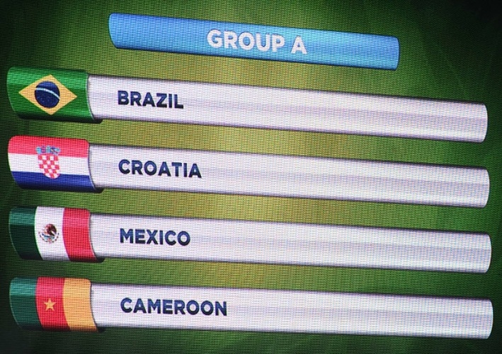 Detalhe do grupo A, do Brasil, na Copa do Mundo de 2014