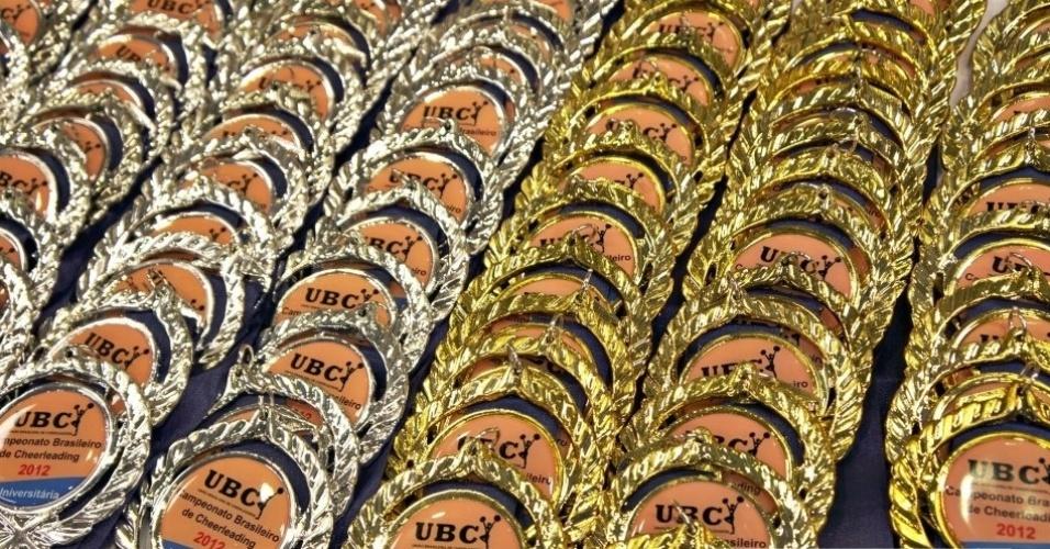 Medalhas ficam expostas durante todo o campeonato