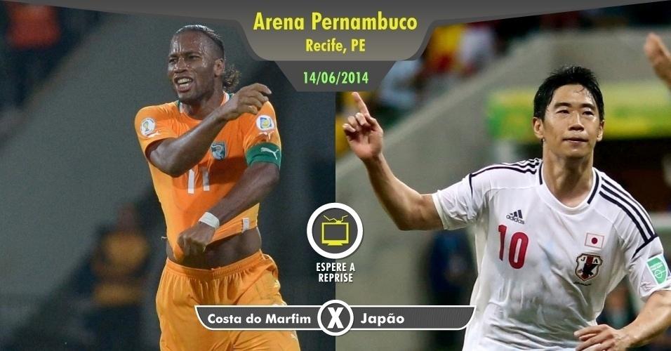 Perder a noite de sábado para assistir a Costa do Marfim x Japão? Vá para o frevo sem dó na consciência e assista mais tarde aos melhores momentos deste confronto