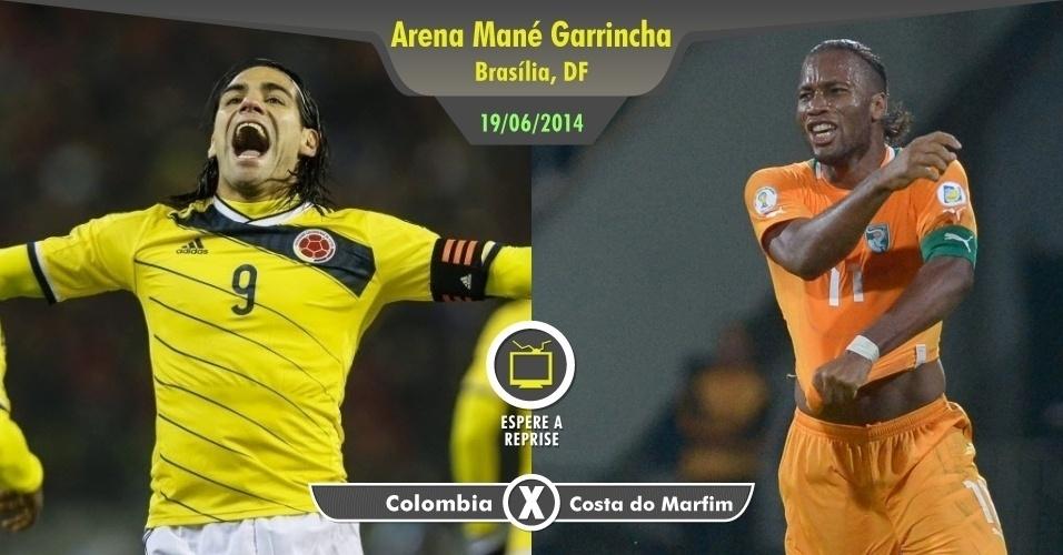 Por melhor que seja a boa fase do colombiano Falcão García, não precisa largar seus compromissos para ver o jogo contra a Costa do Marfim de Drogba, que já esteve melhor. Uma olhada nos melhores momentos está de bom tamanho