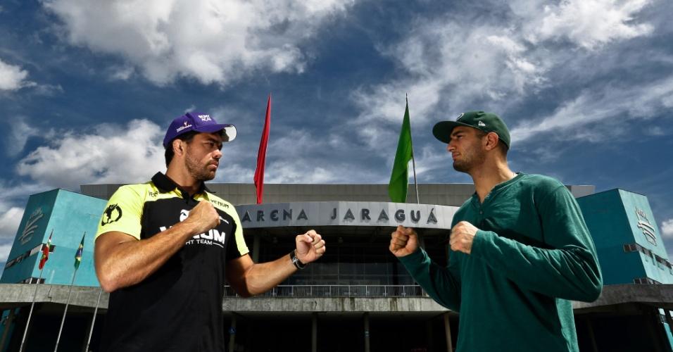 Lyoto e Mousasi se encaram pela 1ª vez antes da luta principal no UFC Jaraguá