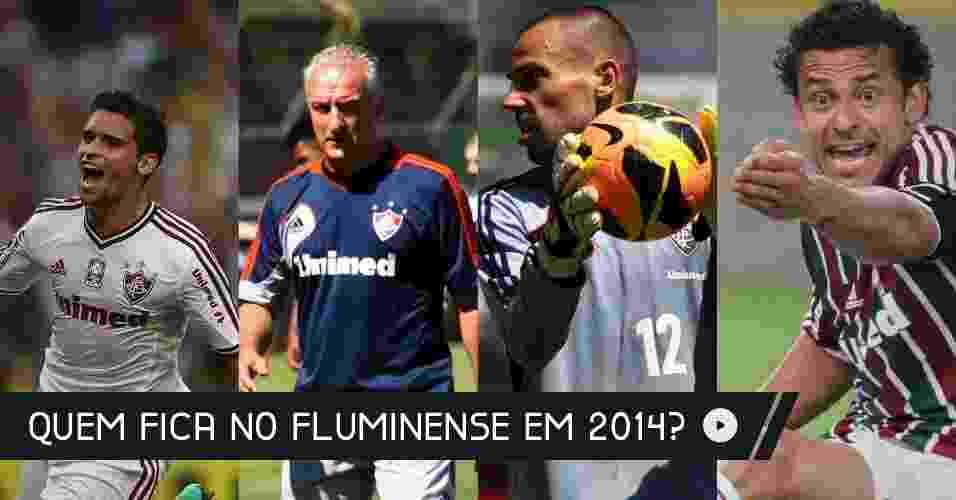 Após ser rebaixado dentro de campo no Campeonato Brasileiro, Fluminense aguarda disputa nos tribunais e planeja reformulação no elenco para a temporada de 2014 - Arte UOL