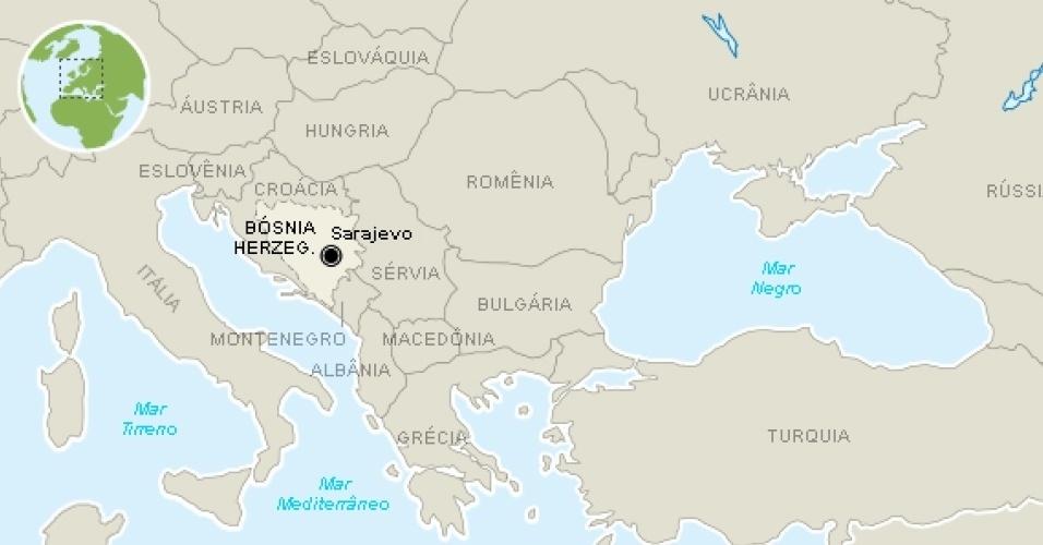 Veja onde fica a Bósnia e Herzegovina
