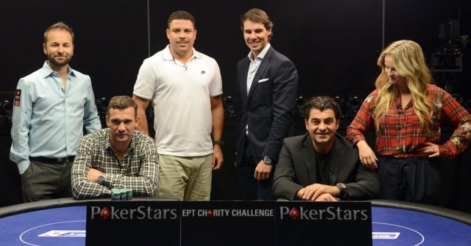 Daniel Negreanu, Schevchenko, Ronaldo, Rafael Nadal, Alberto Tomba e Fatima Moreiro participam de torneio de pôquer na República Tcheca