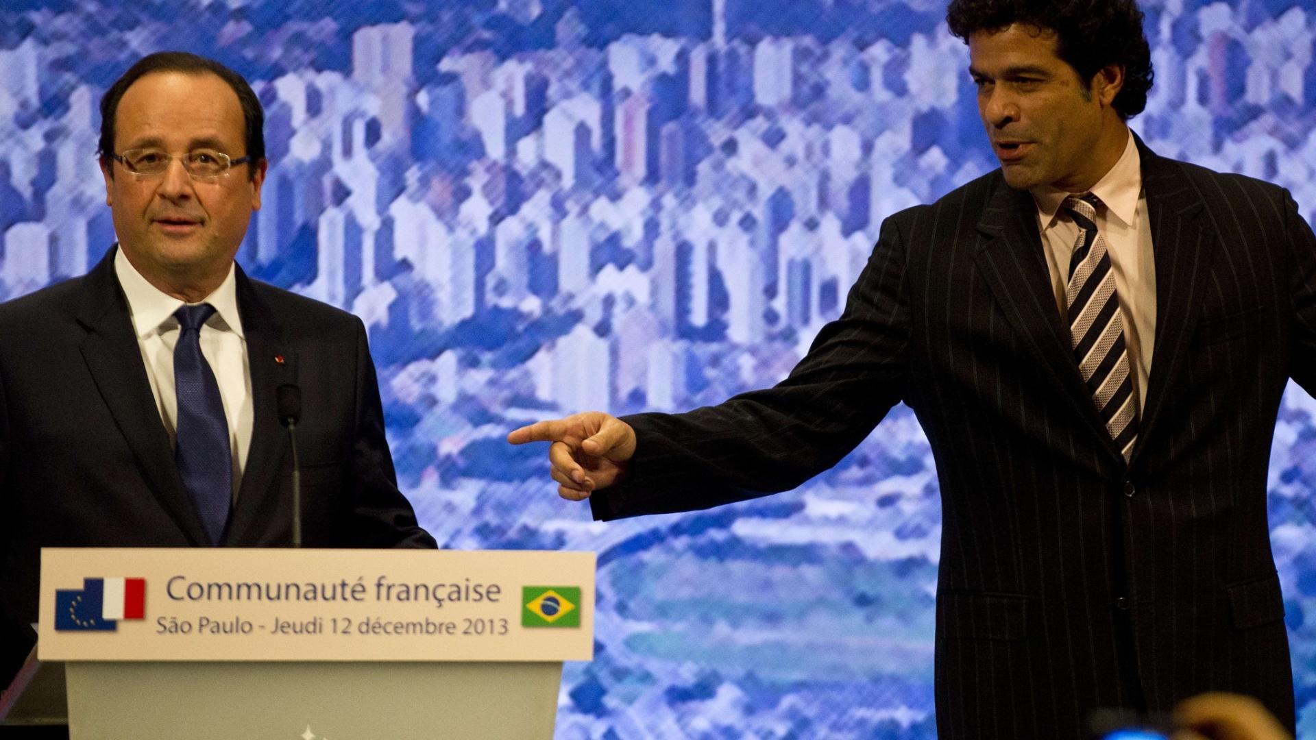 12.dez.2013 - Raí recebeu a condecoração Legião de Honra das mãos do presidente francês François Hollande