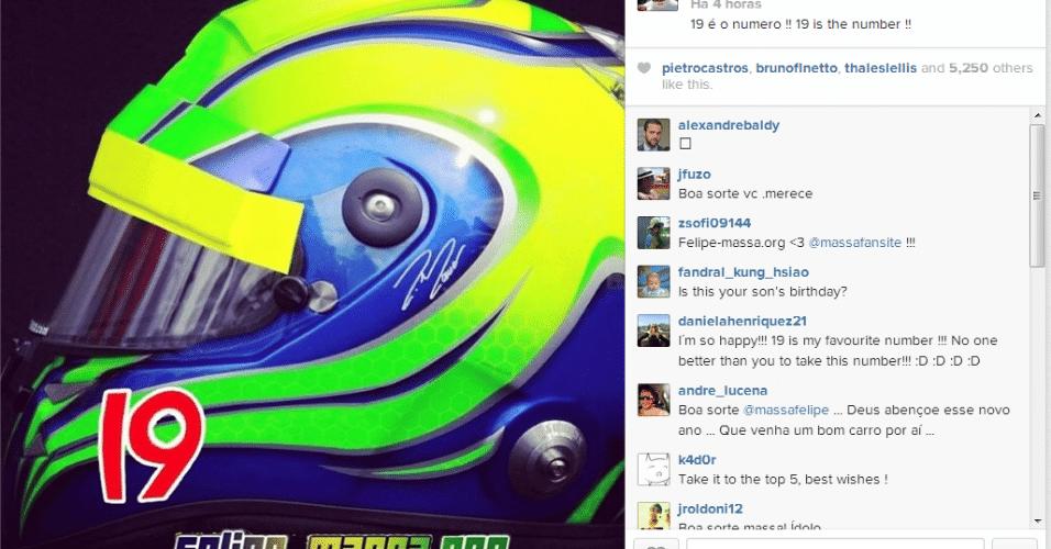 13.12.2013 - Felipe Massa escolhe número 19 para usar na F-1