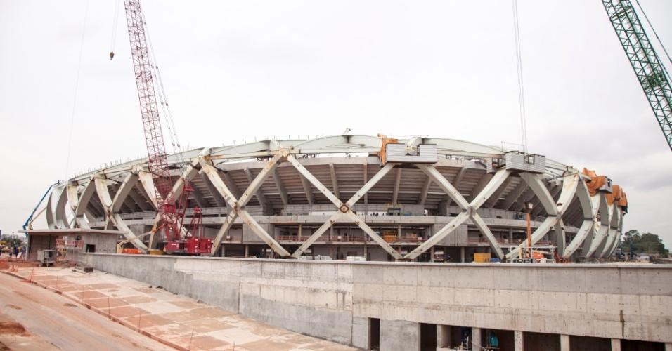 13.12.2013 - Governo federal divulgou imagens da obra da Arena da Amazônia, estádio de Manaus para a Copa