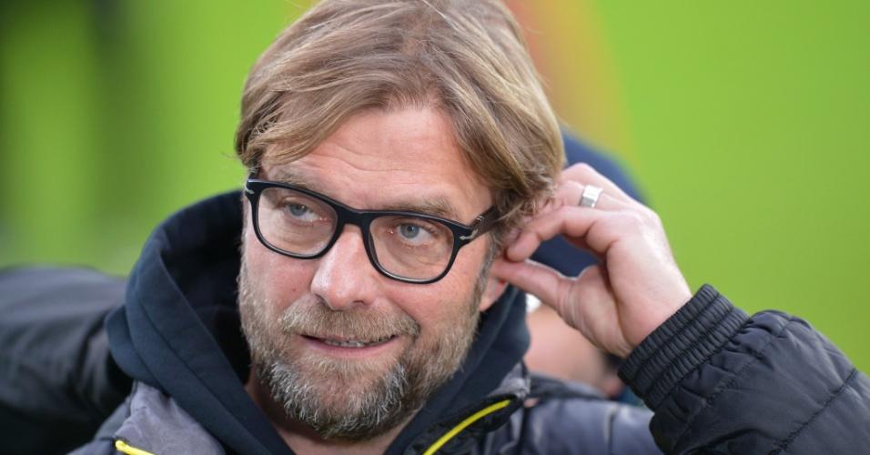 14.12.2013 - Técnico do Borussia Dortmund, Jurgen Klopp, faz careta antes do jogo contra o Hoffenheim