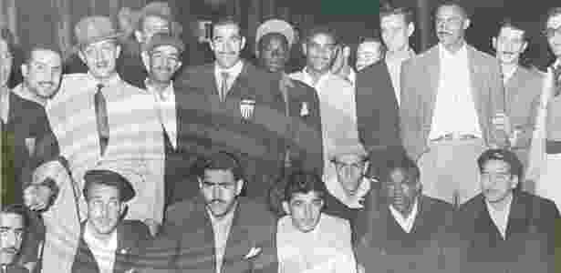 Elenco do Atlético-MG, campeão do Gelo em 1950, responsável por feito que entrou para a história do clube - Reprodução/Centro Atleticano de Memória