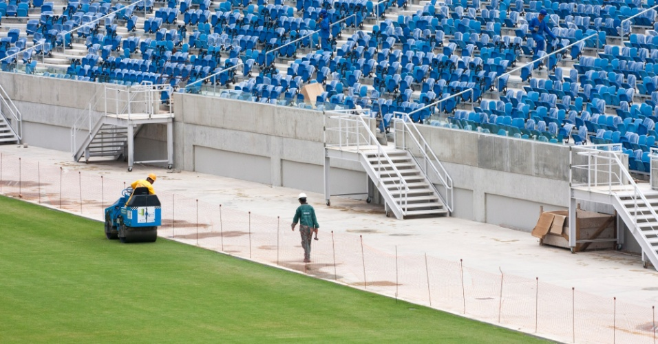 Fotos revelam andamento de obra da Arena das Dunas, estádio de Natal para a Copa do Mundo de 2014