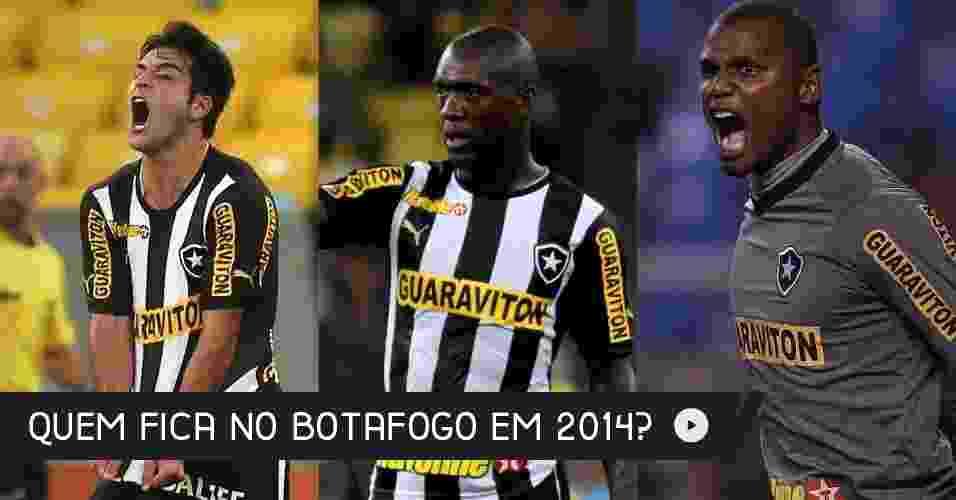 O Botafogo se prepara para disputar a Copa Libertadores de 2014, que era o grande objetivo do clube de General Severiano. Confira quem fica e quem sai do Alvinegro - Arte UOL